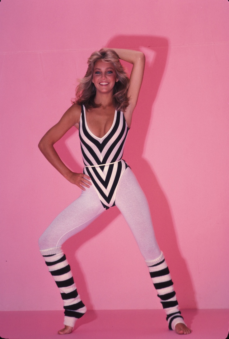 80s leg warmers as a part of a workout outfit