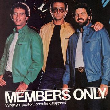 Member's Only Jacket - Print ad from the 80s