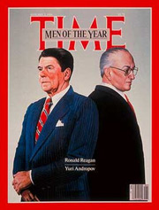 1983: Ronald Reagan (b.1911–d.2004) (2nd time) and Yuri Andropov (b.1914–d.1984)