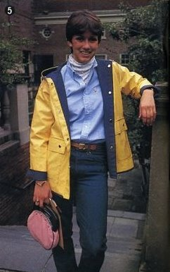 80s Preppy with turtleneck, oxford shirt combo and a bermuda bag