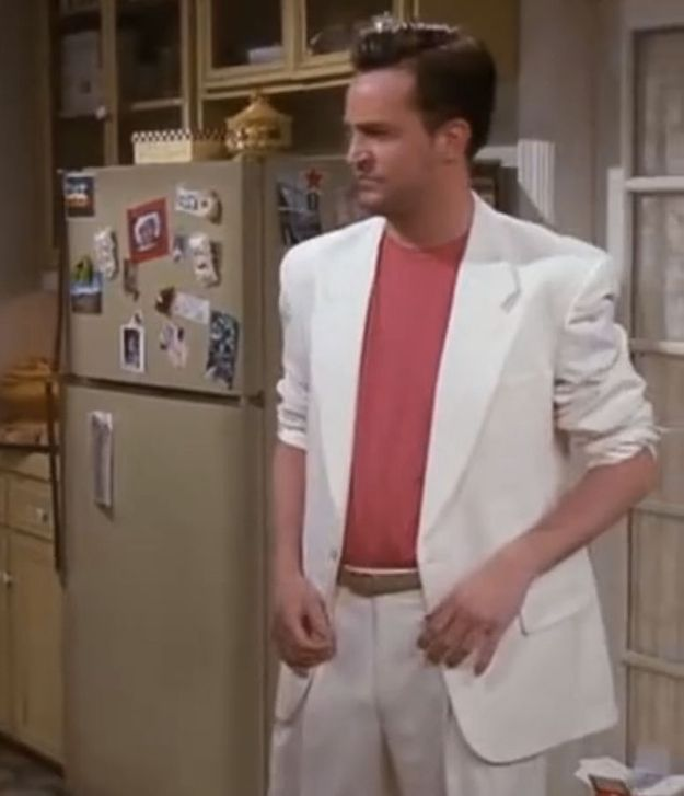 Chandler Bing from friends goes full-on Miami Vice