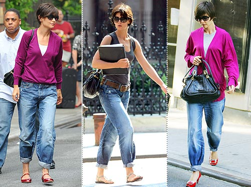 Katie Holmes in her pegged jeans in 2008