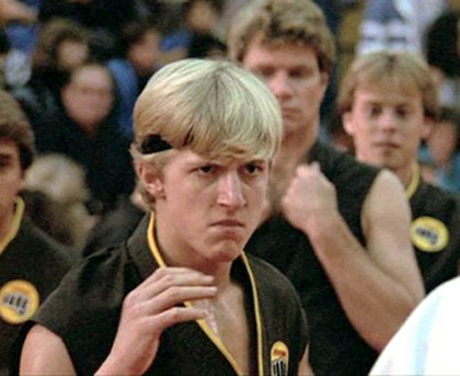 "Billy Zabka as ""Johnny Lawrence"" in The Karate Kid"