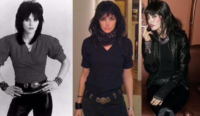 Joan Jett Costumes with the real Joan Jett