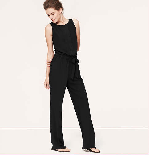 Black jumpsuit from the LOFT