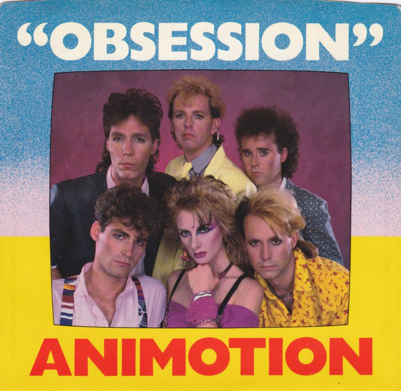 "cover of the 45 for Animotion's hit song ""Obsession"""