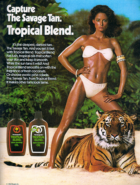 Savage Tan Ad from the 80s