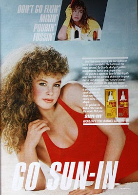 Advertisement for 80s Sun-In