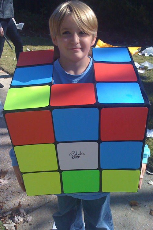 DIY Rubik's cube costume idea