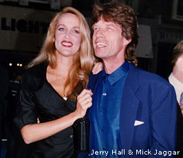 Jerry Hall & Mick Jaggar