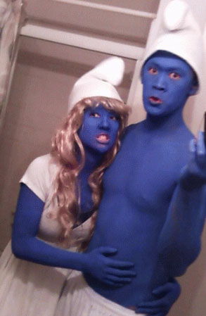 Smurfs Costume Idea for 80s Party