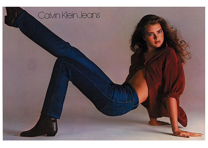 Calvin Klein - designer jeans of the 80s - featured Brook Shields in ads