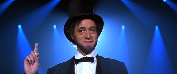 Abraham Lincoln in 'Bill and Ted's Excellent Adventure""