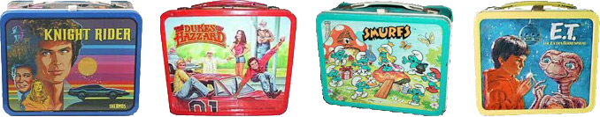 80s Metal Lunchboxes