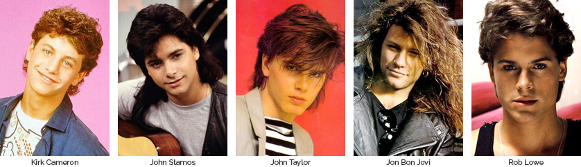 Best Looking Dudes of the 80s: Kirk Cameron, John Stamos, John Taylor, Jon Bon Jovi, & Rob Lowe
