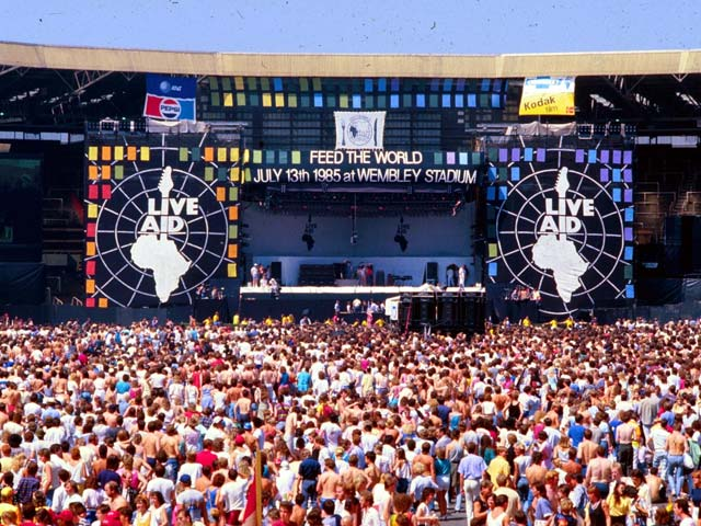 Image result for live aid concert in 1985