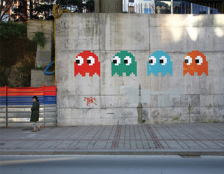8-Bit Art: Pac-man Ghosts (photo credit: Big Browser)