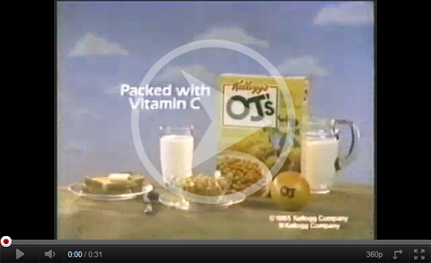 Click here to watch the O.J.'s cereal commercial.