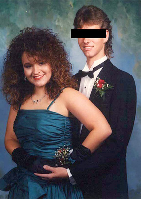 Lori at Homecoming Prom (1988)