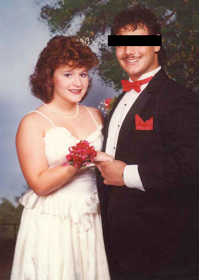 Lori at Junior Prom (1985)