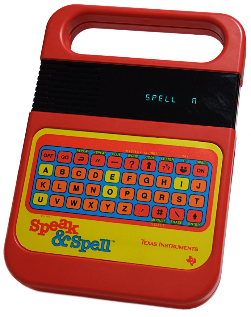 Speak & Spell by Texas Instraments - Awesome 80s toy!