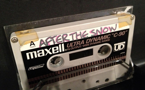 """After the Snow"" Cassette Tape (photo credit: Like Totally 80s)"