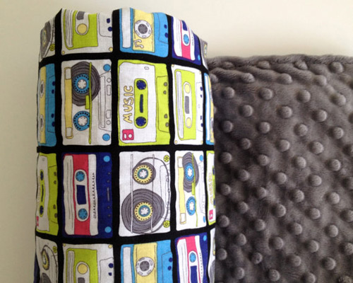 Cassette Tapes Blanket (photo credit: Lil Beautique)