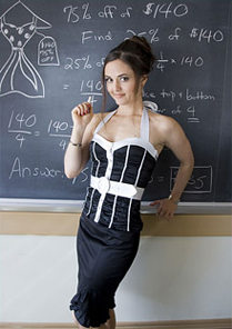 Danica McKellar, a math whiz