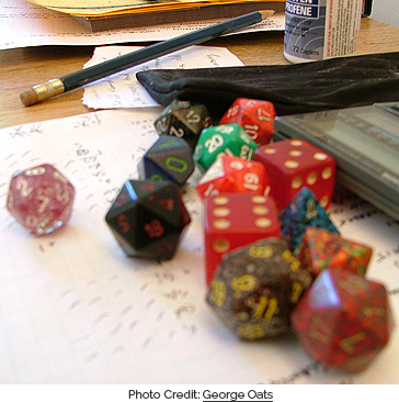 Dungeons & Dragons Dice. Photo Credit: George Oates (www.flickr.com/photos/george/246041/)