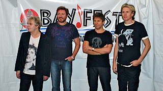 Nick Rhodes, Simon Le Bon, Roger Taylor & John Taylor of Duran Duran at Bayfest - October 8, 2011 (photo credit: John Montgomery)