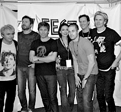 Nick Rhodes, Simon Le Bon, Roger Taylor, Laura Pitts, Justin Saia, Jeff Pitts, & John Taylor (photo credit: John Montgomery)