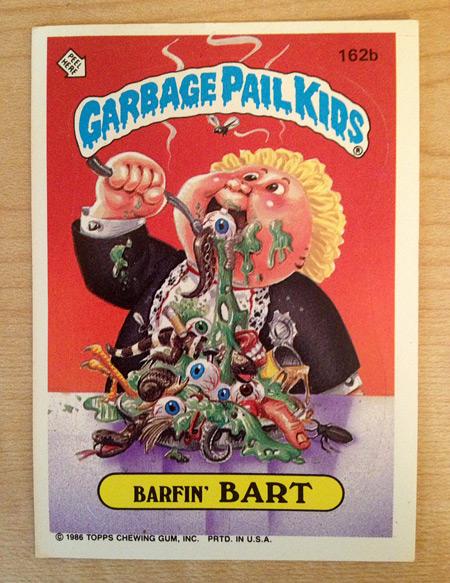 Garbage Pail Kids: Barfin' Bart