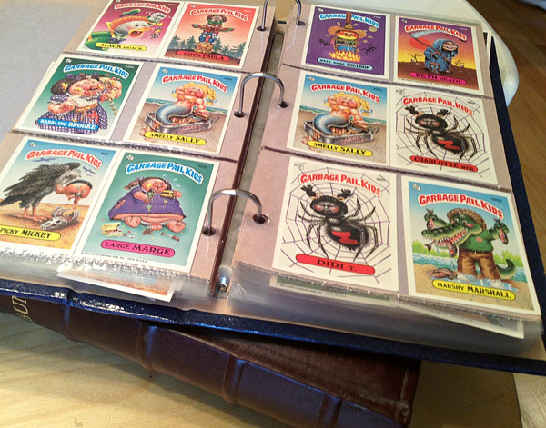Binders of Garbage Pail Kids cards