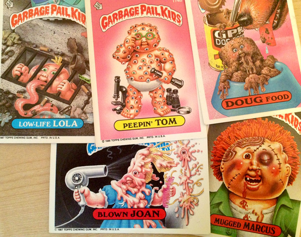 Gross Garbage Pail Kids cards
