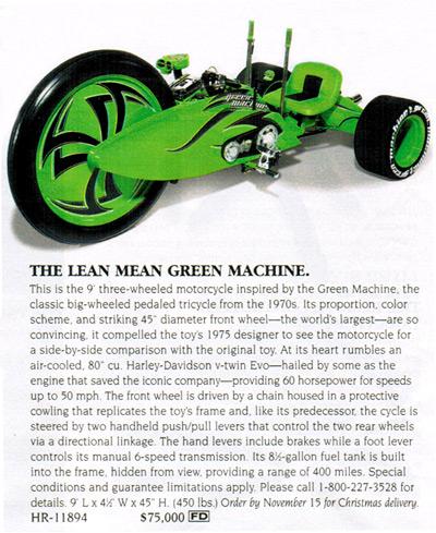 Motorized Green Machine