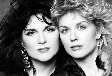 Ann & Nancy Wilson (photo courtesy of Norman Seeff)