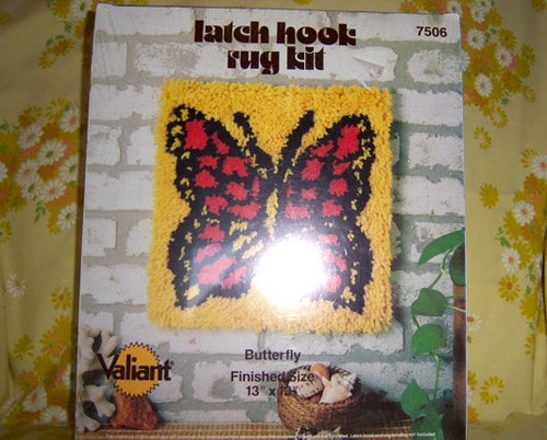 Latch Hook Rugs: Butterfly Kit (photo credit: katzenfraulein)
