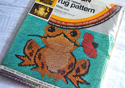 Latch Hook Rugs: Froggie Kit (photo credit: Pumpkintruck)