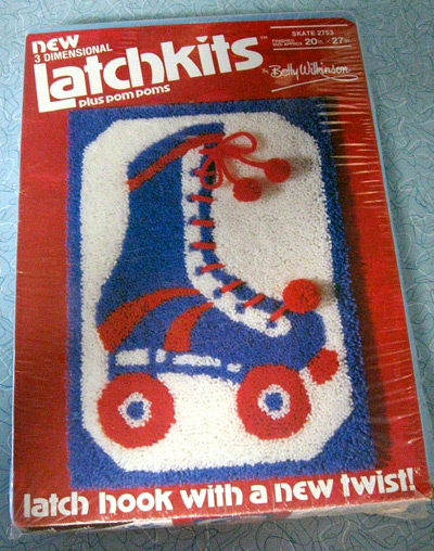 Latch Hook Rug: Roller Skate Kit (photo credit: Squaresville, USA)
