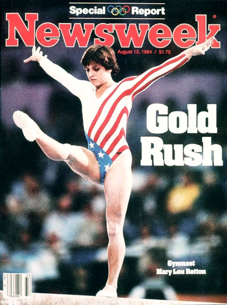 Mary Lou Retton on the cover of Newsweek (photo credit: Newsweek Archivist)