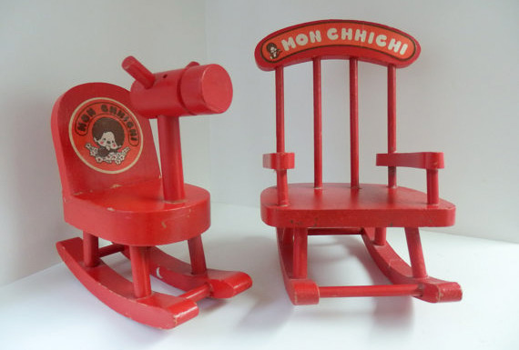 Monchhichis accessories: rocking horse & chair (photo credit: 77Street)