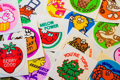 Scratch and sniff stickers from the 80s