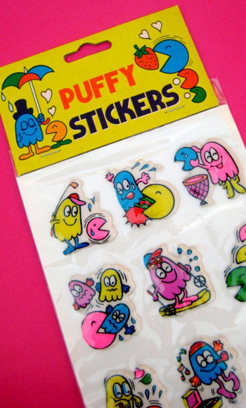 Puffy stickers still in wrapper