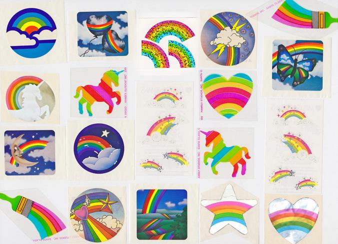 80s Sticker Albums