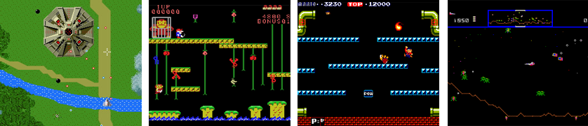 Xevious Donkey Kong Junior Mario Bros Defender