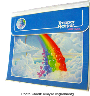 Lisa Frank-esque Trapper Keeper