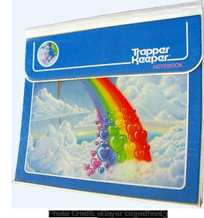 Lisa Frank-esque Trapper Keeper