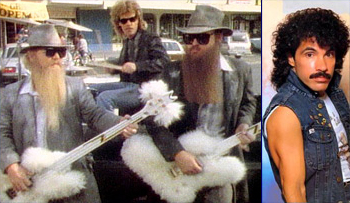 Best Facial Hair in 1983 Music: Beards of ZZ Top and moustache of John Oates