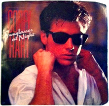 "Corey Hart's ""I Wear My Sunglasses at Night"" 45 - cover art (photo credit: Amy Ince)"