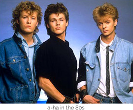 a-ha in the 80s